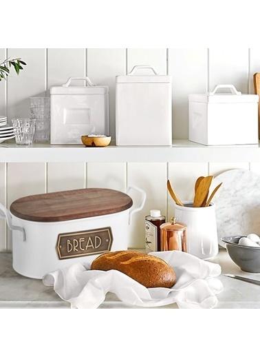 The Mia Ekmek Saklama Kabı - Beyaz Beyaz